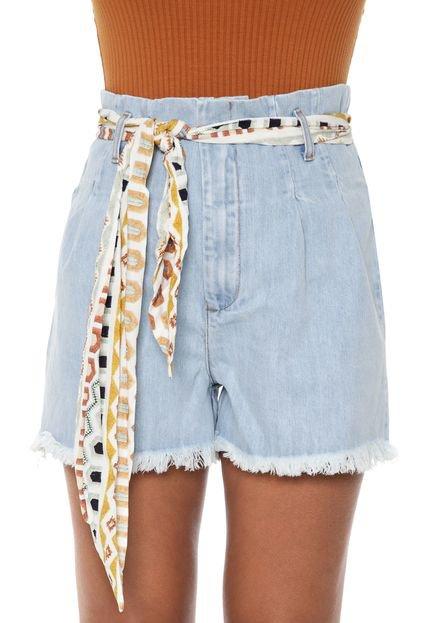 Lez a Lez Short Jeans Lez a Lez Alfaiataria Azul