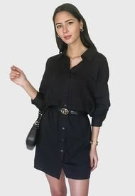 Vestido MISSGUIDED Corto Negro - Calce Oversize