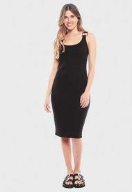 Vestido Wados SM Solid Negro - Calce Ajustado