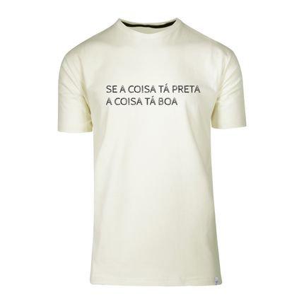 Camiseta Baita Peita A Coisa Tá Preta Off White