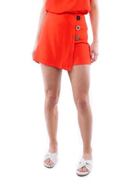 Pop Me Shorts Saia Botão Lateral Pop Me Laranja f3ht9
