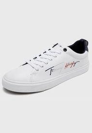 Zapatilla Urbana TH Signature Sneaker Men Blanco Tommy Hilfiger