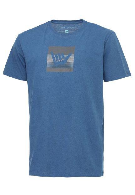 Camiseta Hang Loose Logostripe Azul
