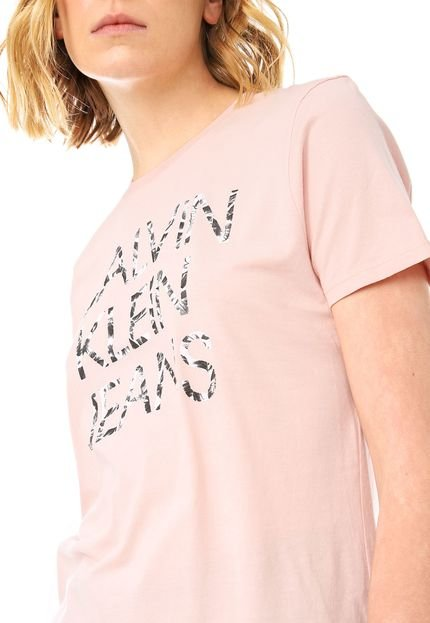 Calvin Klein Jeans Blusa Calvin Klein Jeans Folhagens Rosa