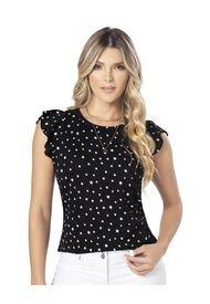 Camiseta Para Mujer Estampado/Negro Mp