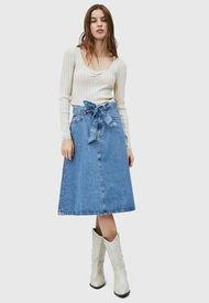 Falda Pepe Jeans Azul - Calce Regular