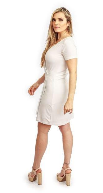 HAVA Vestido Curto HAVA Transpassado Branco FowKk