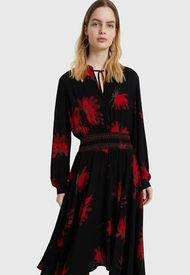 Vestido Desigual Negro - Calce Regular