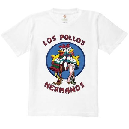 Nerderia Camiseta Kids Nerderia Los Pollos Hermanos Branco jSlwb