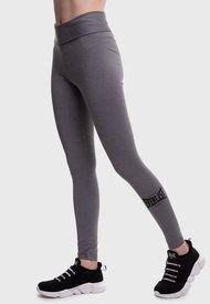 Legging Everlast Long Band Basic Two Gris - Calce Ajustado