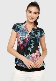 Blusa Negro-Multicolor Desigual