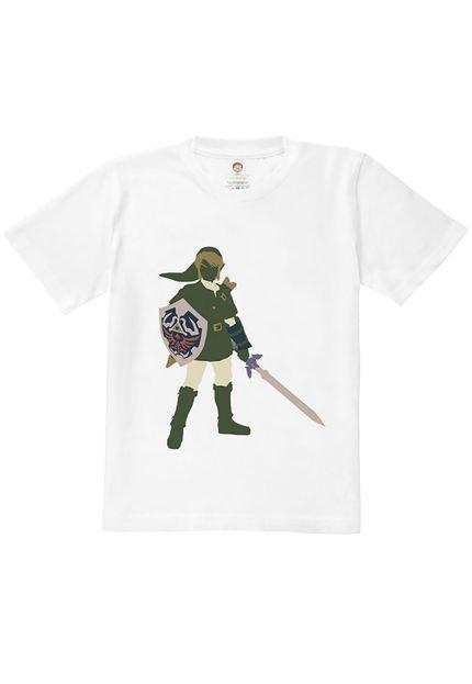 Nerderia Camiseta Kids Nerderia Zelda Branco NGevj