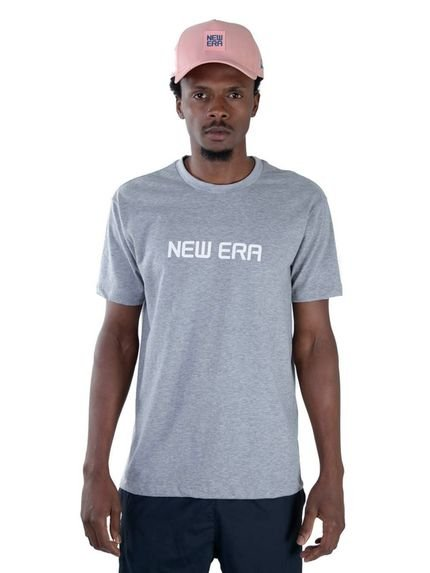 T-shirt New Era Regular New Era Brasil Mescla Cinza