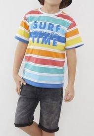 Polera Surf Time Kids  Amarillo Niño   Corona