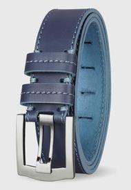 Cinturón Cuero Genuino Ostin Azul Océano Miura