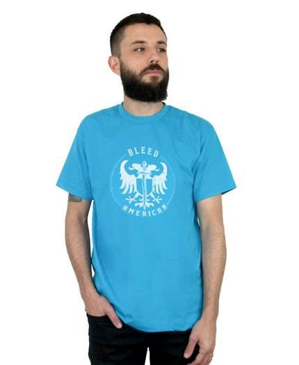 Camiseta Bleed American Sword Of Wisdom Turquesa