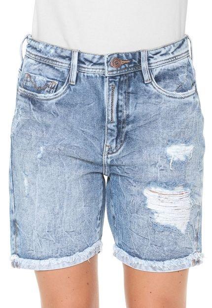 Carmim Bermuda Jeans Carmim Reta Carla Tomboy Azul
