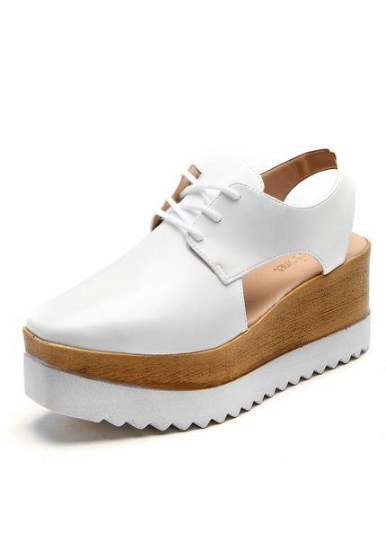 Oxford Flatform Dafiti Shoes Abertura Branco