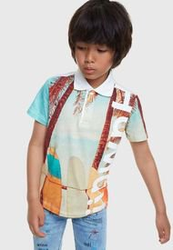 Camisa Desigual Niño Jenófanes Multicolor - Calce Regular