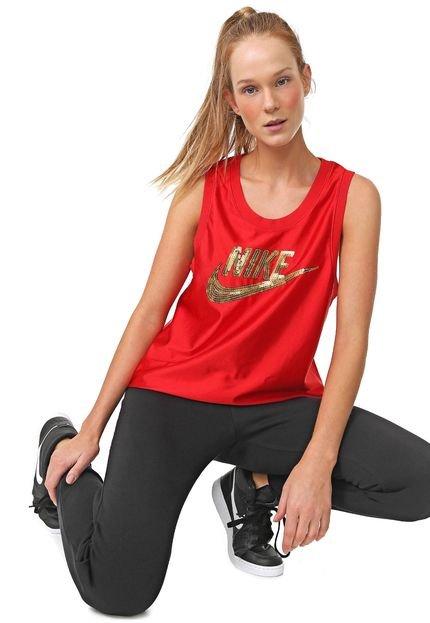 Nike Sportswear Regata Nike Sportswear W Nsw Jersey Glm Dnk Vermelha