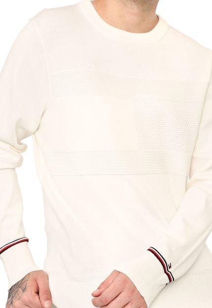 Suéter Tommy Hilfiger Tricot Logo Off-White