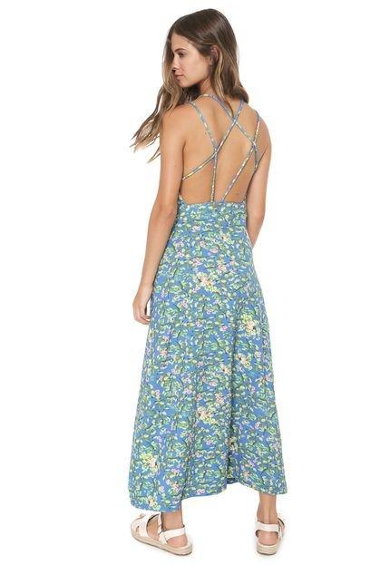 Redley Vestido Redley Longo Jardim Azul
