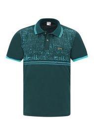 Camiseta Tipo Polo Verde Oscuro Audax Con Bolsillo