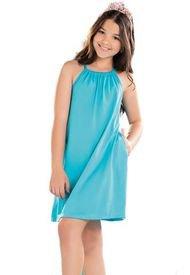 Vestido Para Niña Azul Turquesa MP