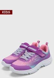 Tenis Lifestyle Rosado-Lila-Blanco Skechers Kids GOrun 650