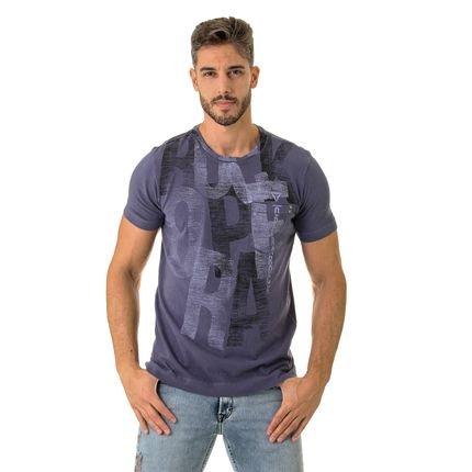 Camiseta Opera Rock Com Bolso Azul