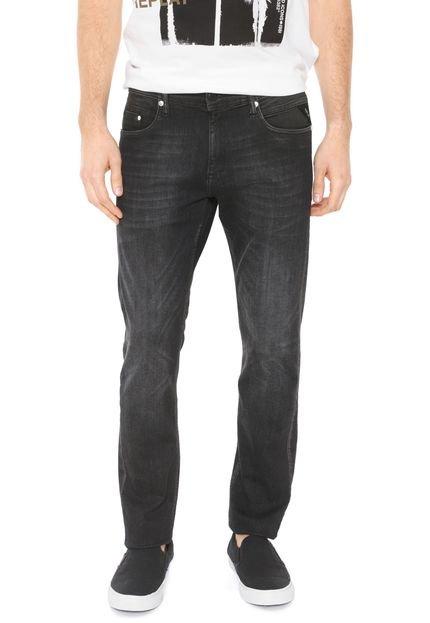Calça Jeans Replay Slim Preta