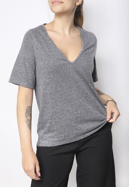 Superfluous Camiseta Gola V Superfluous Eco Cinza EYSqX