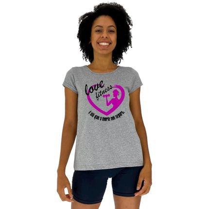 Alto Conceito Camisa Babylook Alto Conceito Love Fitness Mescla dWN5A