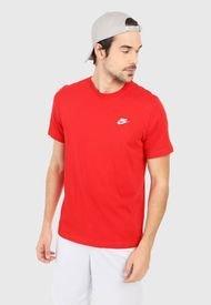 Camiseta Rojo-Blanco Nike Club Tee