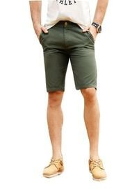 Bermuda Adulto Masculino Verde Militar Marketing  Personal