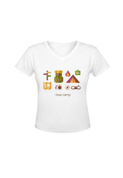 Nerderia Camiseta Nerderia Love Camp Branco zgz0l