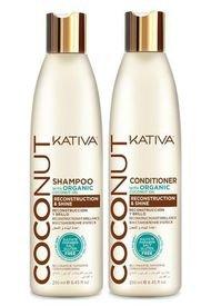 Pack X2 Shampoo + Acondicionador Coconut Kativa