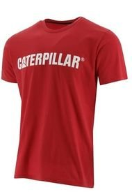Polera M/C Hombre Caterpillar Logo Tee Rojo CAT