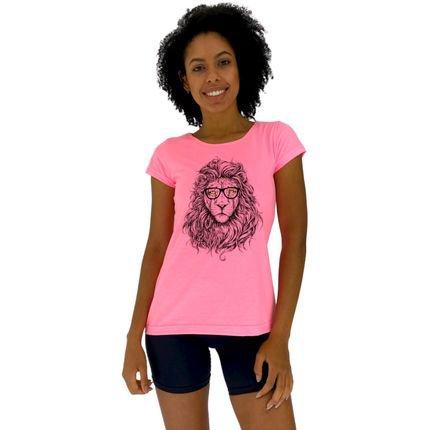 Alto Conceito Camisa Babylook Alto Conceito Modern Lion Rosa Flúor qTsJv