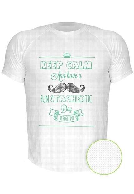Camiseta Manga Curta Nerderia Mustache Branco