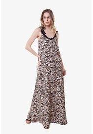 Vestido Bimba Largo Animal Print Cheetah  Jacinta Tienda