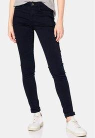 Pantalón Elástico Con Costuras Decorativas Azul Marino Esprit
