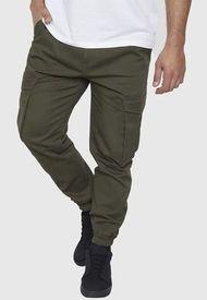 Pantalón Jogger Twill Cargo Militar - Hombre Corona