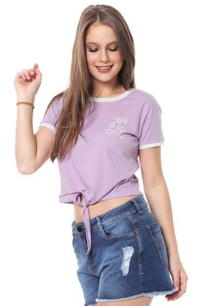 Hang Loose Camiseta Cropped Hang Loose Lines Lilás jv9Kv