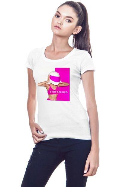 Garota Sideral Camiseta Feminina Garota sideral Stop Talking TcmC5