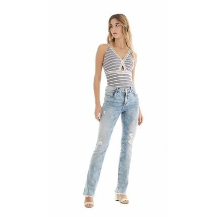 Zinco Calca Zinco  Lilly Cos Intermediario Barra Desfiada  Jeans BH2Fh