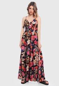 Vestido Wados Largo Estampado Multicolor - Calce Regular