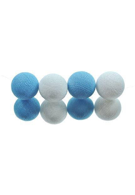 Menor preço em Fio De Luz Paraty Kit 20 Bolas 110V Cormilu Azul