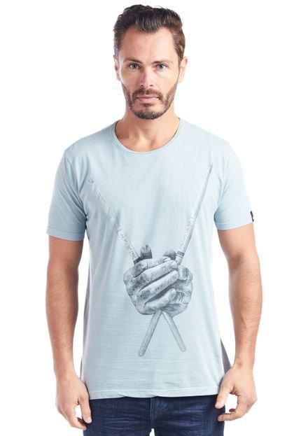 Camiseta Bossa Brasil BAQUETAS Cinza
