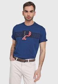 Camiseta Azul-Negro Us Polo Assn